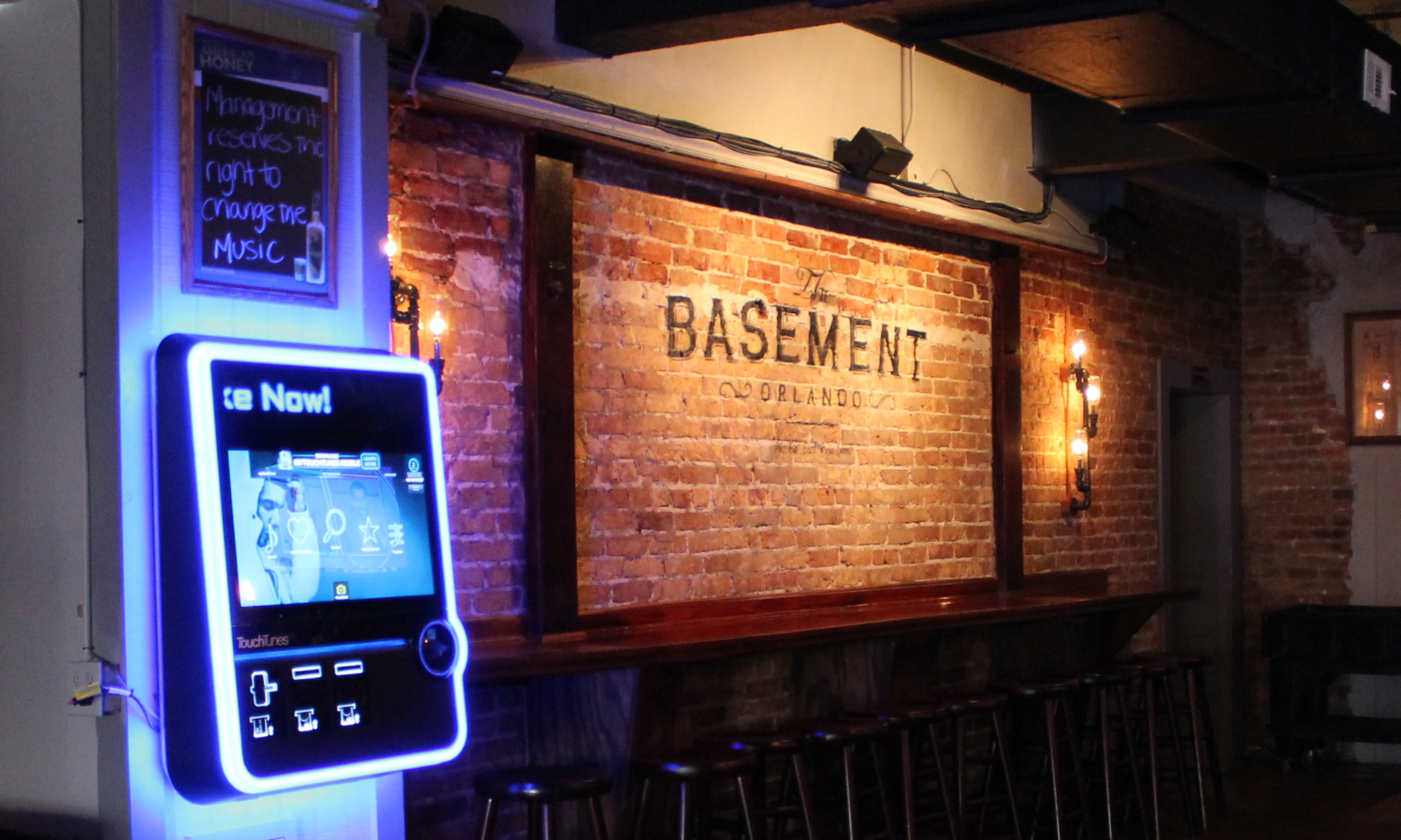 the basement offers touchtunes