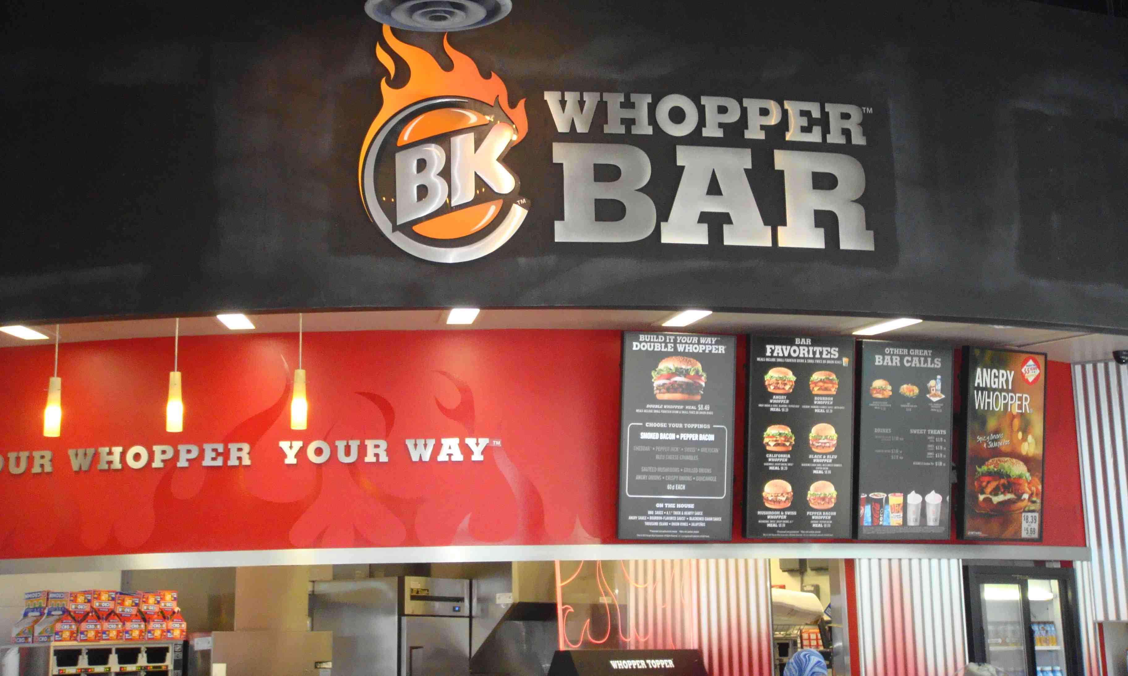 Bk Whopper Bar Universal Citywalk Today S Orlando