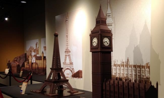 World of Chocolate features sculptures made of solid chocolate.