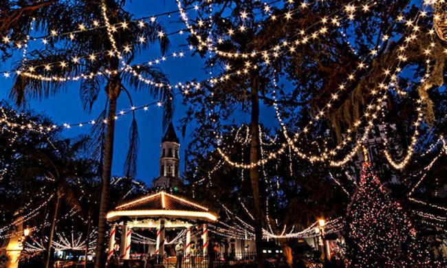 Saint Augustine's Nights of Lights is one of the 10 best Christmas lights displays in the world.