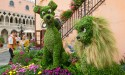Disney-themed topiaries can be found all around Epcot during the Flower and Garden Festival.