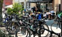 Bike racks will be set up downtown for the festival.