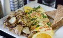 Try an omelete at Clermont's Keke's Breakfast Cafe!
