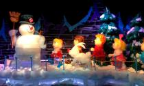 This year, ICE! at Gaylord Palms has a Frosty the Snowman theme.