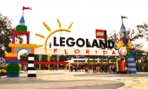 The LEGOLAND entrance just outside of Orlando, Florida.