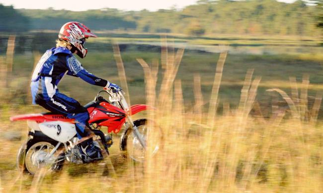Rent or learn to ride a dirt bike.