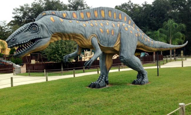 Dinosaur World in Plant City has more than 150 dinosaurs.