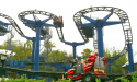 Ride in life-sized LEGO Technic vehicles on the Project X roller coaster.