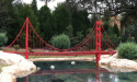 Miniland USA's Golden Gate Bridge replica (minus the fog).