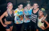 Meet DRIP dancers after the show ... when you're all covered in water and paint.