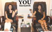 YOU Nails Salon Spa offers a variety of pedicure treatments.